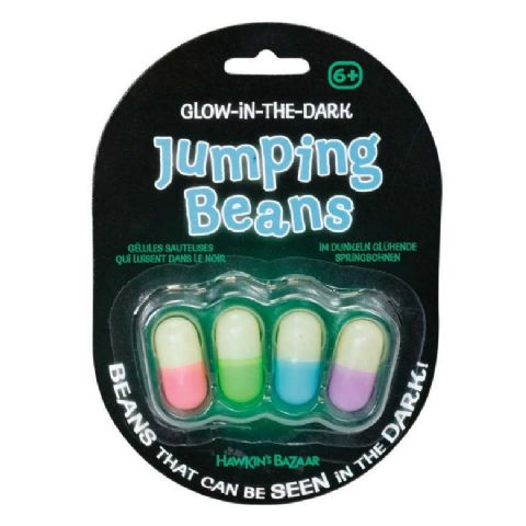 Glow In The Dark Jumping Beans Tobar (Pack of 4)